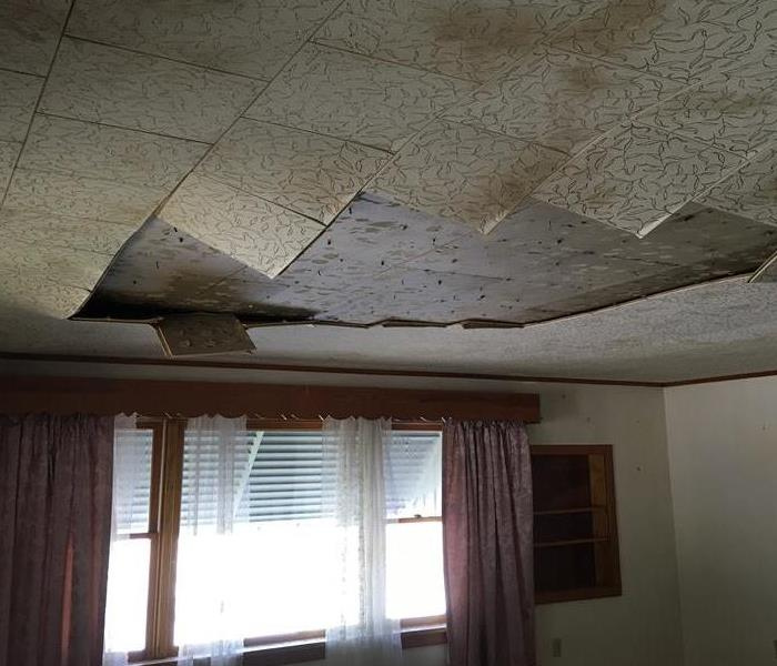 Ceiling Damage after Storm